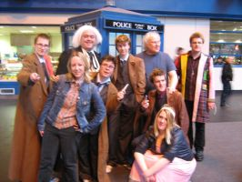 Colin Baker + WHO cosplayers 2 by angelofmusicuk