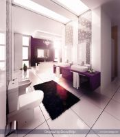 Purple-White Bathroom 1 V3 by Semsa