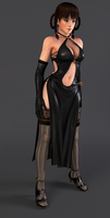 Lei Fang Black Dress-Render by Dizzy-XD