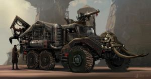 Post-Apocalyptic Hunting Truck by skybolt
