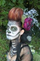 Day of the Dead Hair Piece by bkell22