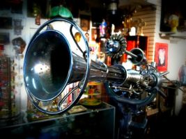 One of a kind Ray gun sculpture by Dave Britton by BrittonsConcoctions