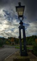 Old Lamp on old Road by Thetoril