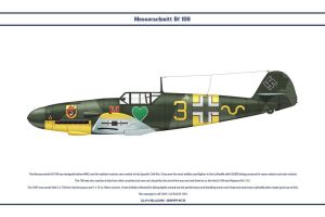 Bf 109 F-2 JG54 3 by WS-Clave
