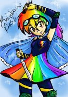 Magical Girl Rainbow Dash~ by xandir1lover