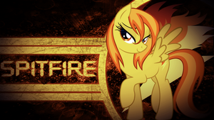 Spitfire Wallpaper by JustaninnocentPony