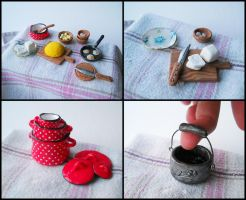 Gramma's kitchen - miniatures (2) by GemDeDude