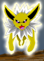 Jolteon Use Shock Wave by ShroudofShadows