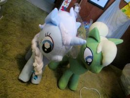 Elsa and Tink Ponies by grumble-king2