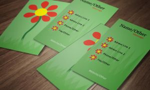 Flower Business Card Design by SobohRami