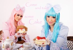 Lolitas and cake by Yana-Mio