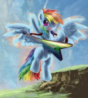 Meh Rainbowdash  guitar by SuperRobotRainbowPig