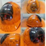 Airbrushed Skull Helmet by JayLatour