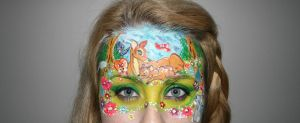 Bambi Face paint! by Blueberrystarbubbles