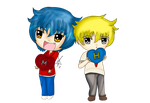 Commission: Chibi Hiro and Martin by EmpressTerra