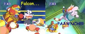 Dedede Falcon Punch by StarFumu