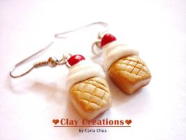 Soft served ice cream earrings by phoenixcarla
