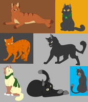 9 OC Cats by XxUkarixX