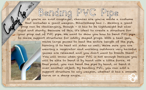 Cosplay Tip 41 - Bending PVC Pipe by Bllacksheep