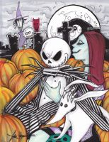 Jack Skellington  Sally color by ChrisOzFulton