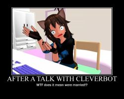 MMD My Cleverbot Reaction by GeekyKitten64