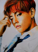 Taehyung Kim aka V from Bangtan Boys, BTS by Mim78
