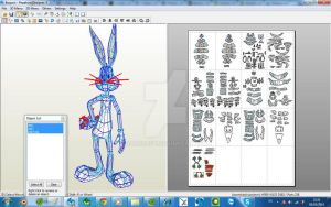 BUGS BUNNY PAPERCRAFT by darcrash