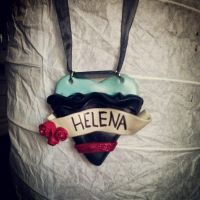 Helena/My Chemical Romance Fimo Necklace by gillyboo