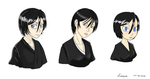 Rukia in 3 different styles by Niveque