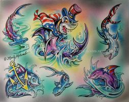 Flag Shark by Artistic-Tattooing