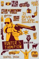 Hunter S. Thompson Tribute by baskervillain