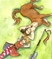 my centaur friend... by Werdandi