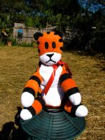 Hobbes the Yard Tiger by modestlobster