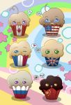 Hetalia Muffins - Allies by MadameNyx