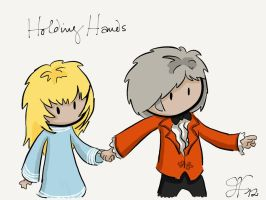 Holding Hands - Three and Jo by gnasler
