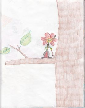 Up in the tree, a flowergentleman you'll see by sugarspiceallnice