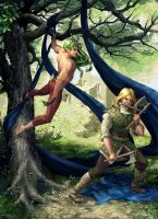 The Faun and The Viking by lorraine-schleter