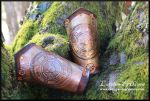 Steampunk copper and leather bracer by akinra-workshop