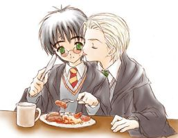 My breakfast : Draco x Harry by yukipon
