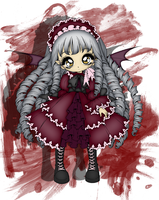 Vampire Girl Colored by wildflower4etrnty