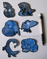 Little Aquarians Sticker Set by Shadow-Wolf