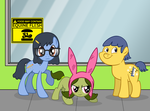 Bob's Burgers My Little Pony x-over by Voodoo-Tiki