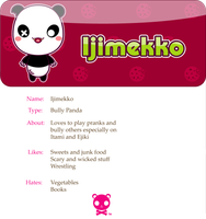 Ijimekko the Panda by mAi2x-chan