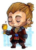 DA2 Varric mini art by KeyshaKitty