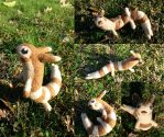 Posable Needle Felted Furret by SnowFox102