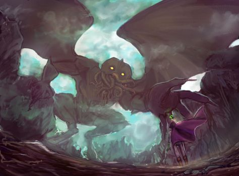 Mysterion and Cuthulu new by SchatzIna