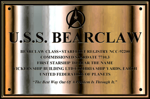 Uss Bearclaw Dedication Plaque by Michael-Taylor1134