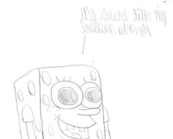 SpongeBob happy for his balloon by MarcosLucky96