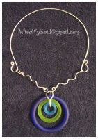Glass Target Collar Necklace by WireMySoul