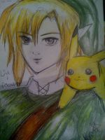 The legend of link and pikachu by FallenFantasy182